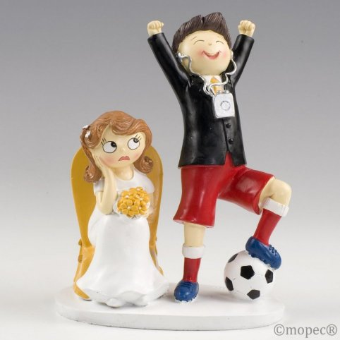 Figura pastel novios futbolista Pop & Fun 14