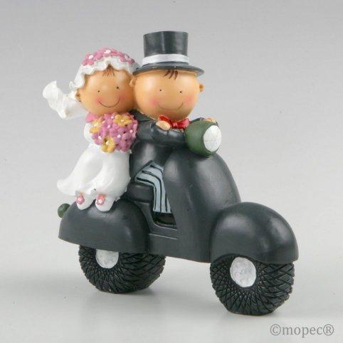 Pit-Pita Motorrad Kuchen-Sparbüchse Figur 16cm