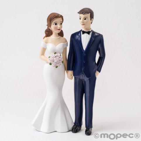 Figur Kuchen Braut und Bräutigam Liebling stehender Bräutigam mit Smoking 21cm