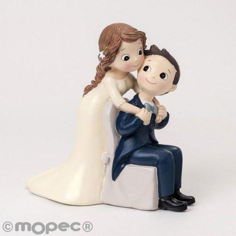 Figura di torta Pop & Fun seduta sposo