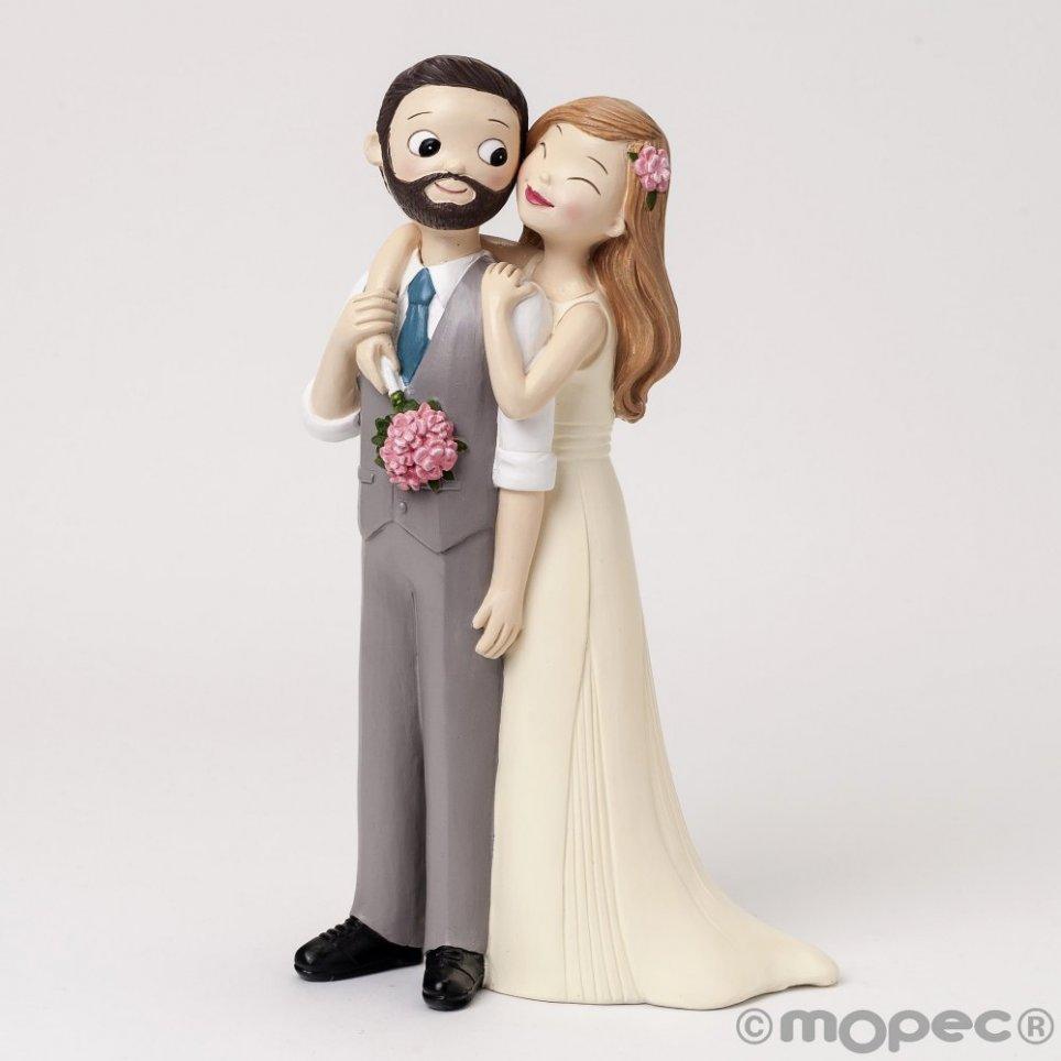 Gilet da sposo e barba Pop & Fun con figure pastello