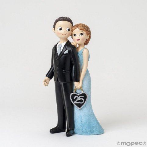 25 Jahre Hochzeit Figur Pop & Fun
