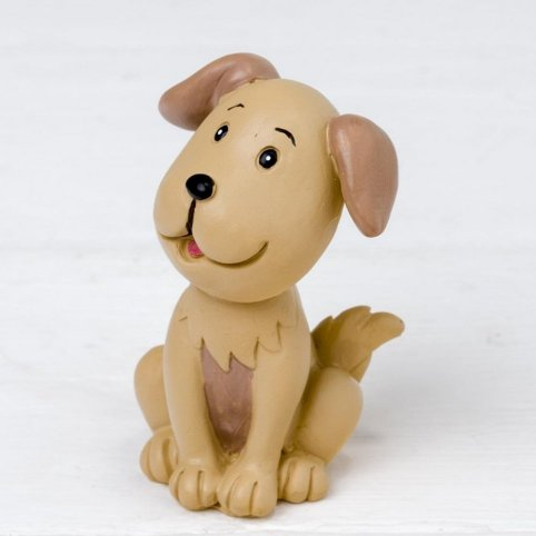 Figura in poliresina Pop & Fun family cucciolo 7cm.