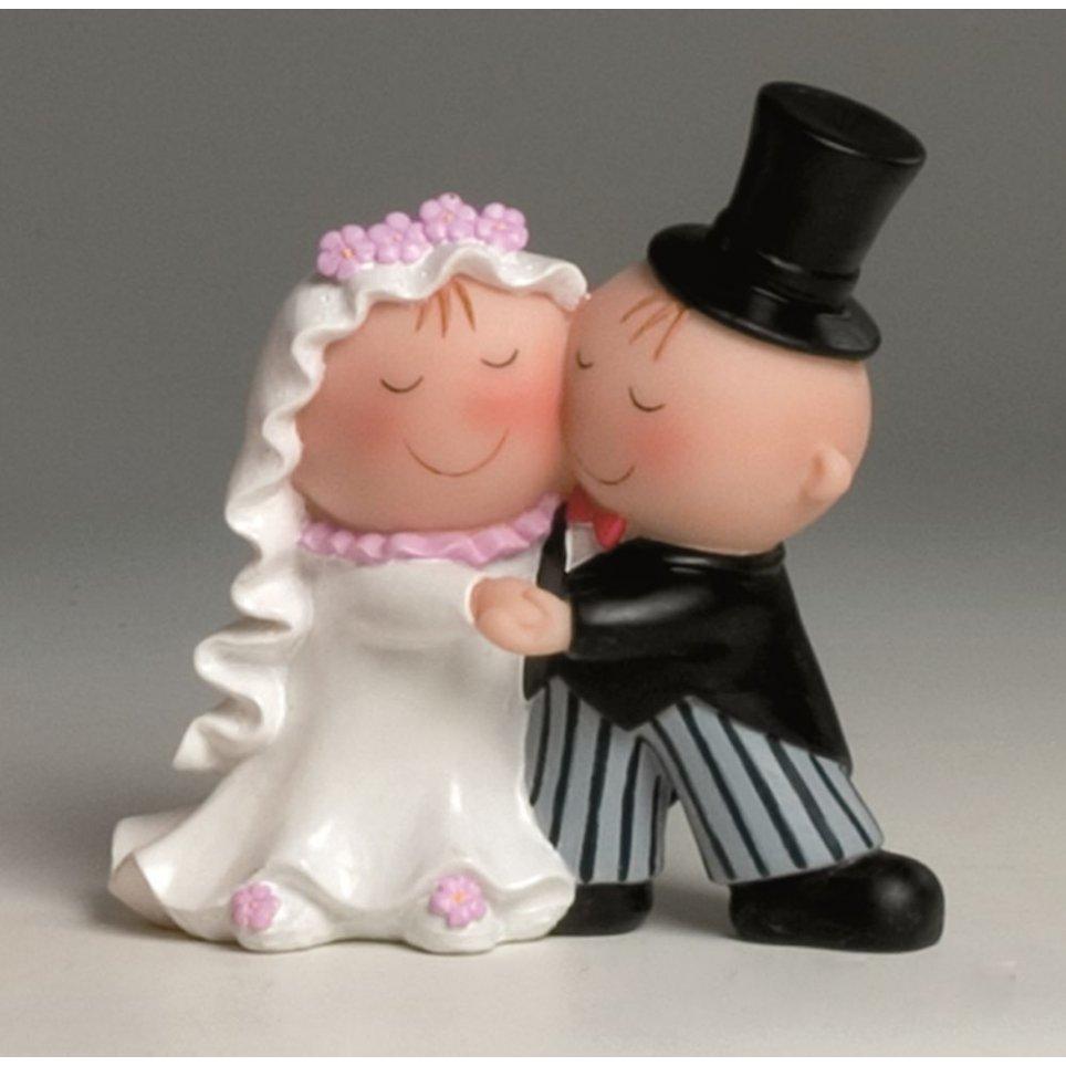 Figura Pastel Pit-Pita sposa e sposo che ballano 15