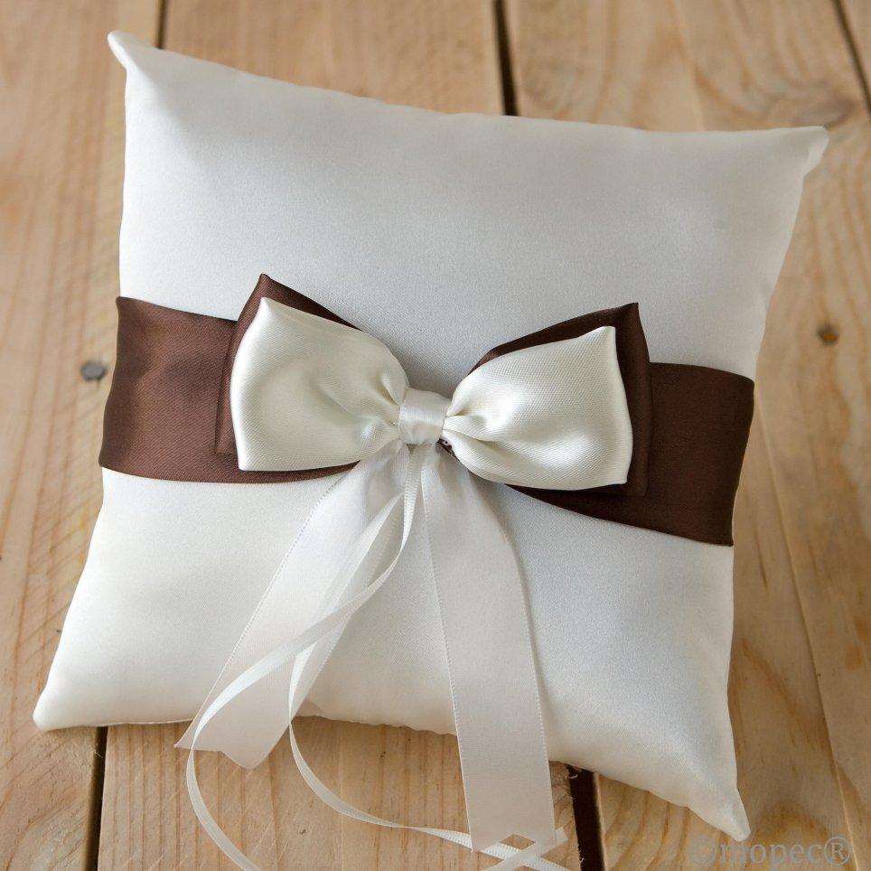 Alleanze avorio cuscino cravatte marrone e avorio