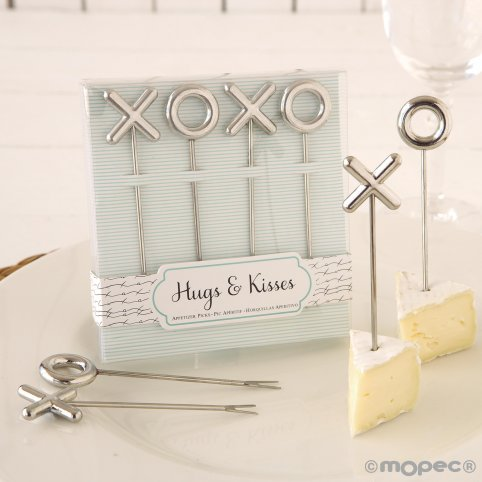 Set 4 snack skewers in gift box. P.GOLOSO
