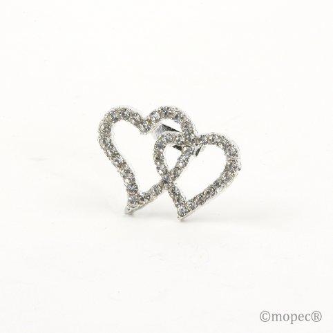 Broche corazones strass 3