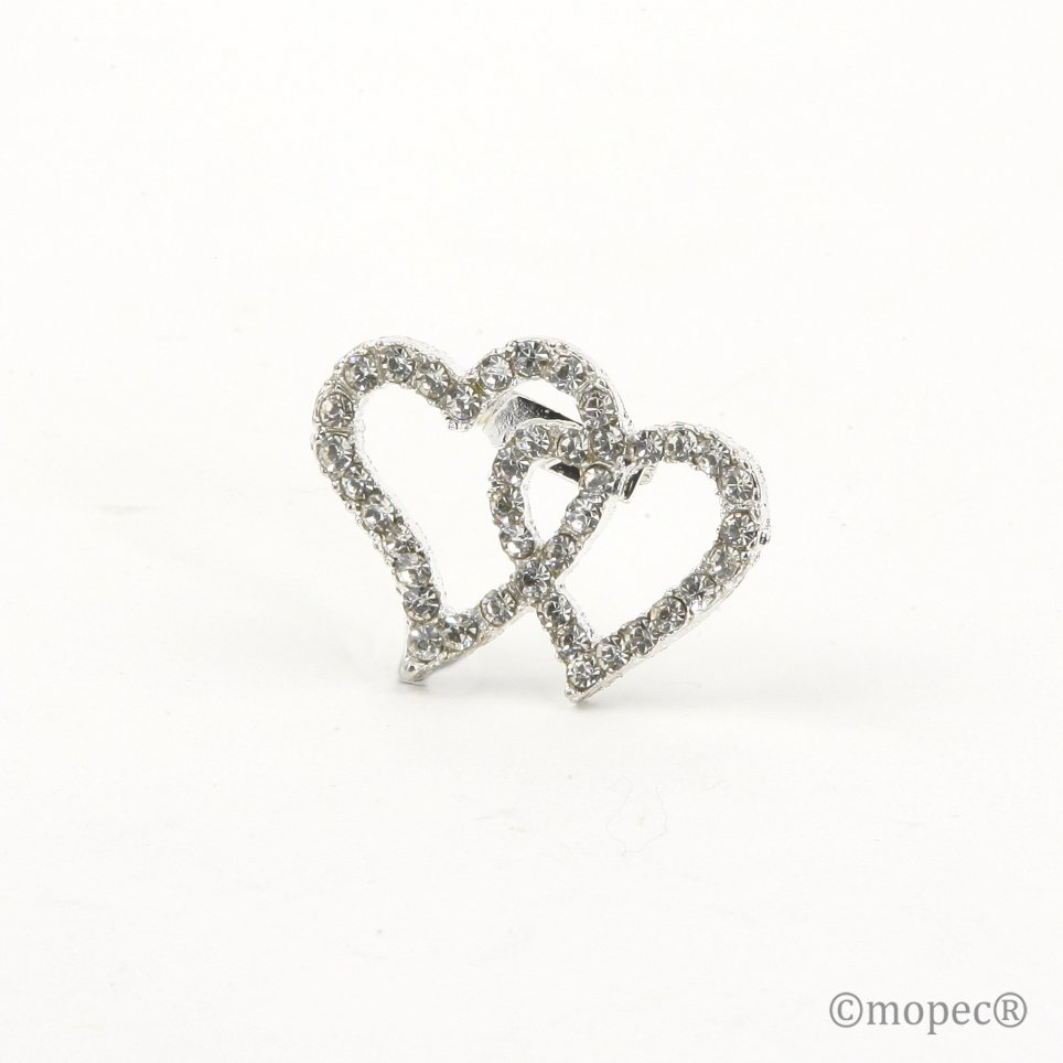 Brooch Hearts Strass 3