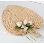 Paipay palm leaf adorned with card holder 29x30cm. (approx)