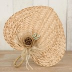 Paipay 29x30cm. (approx)adorned with jute flower