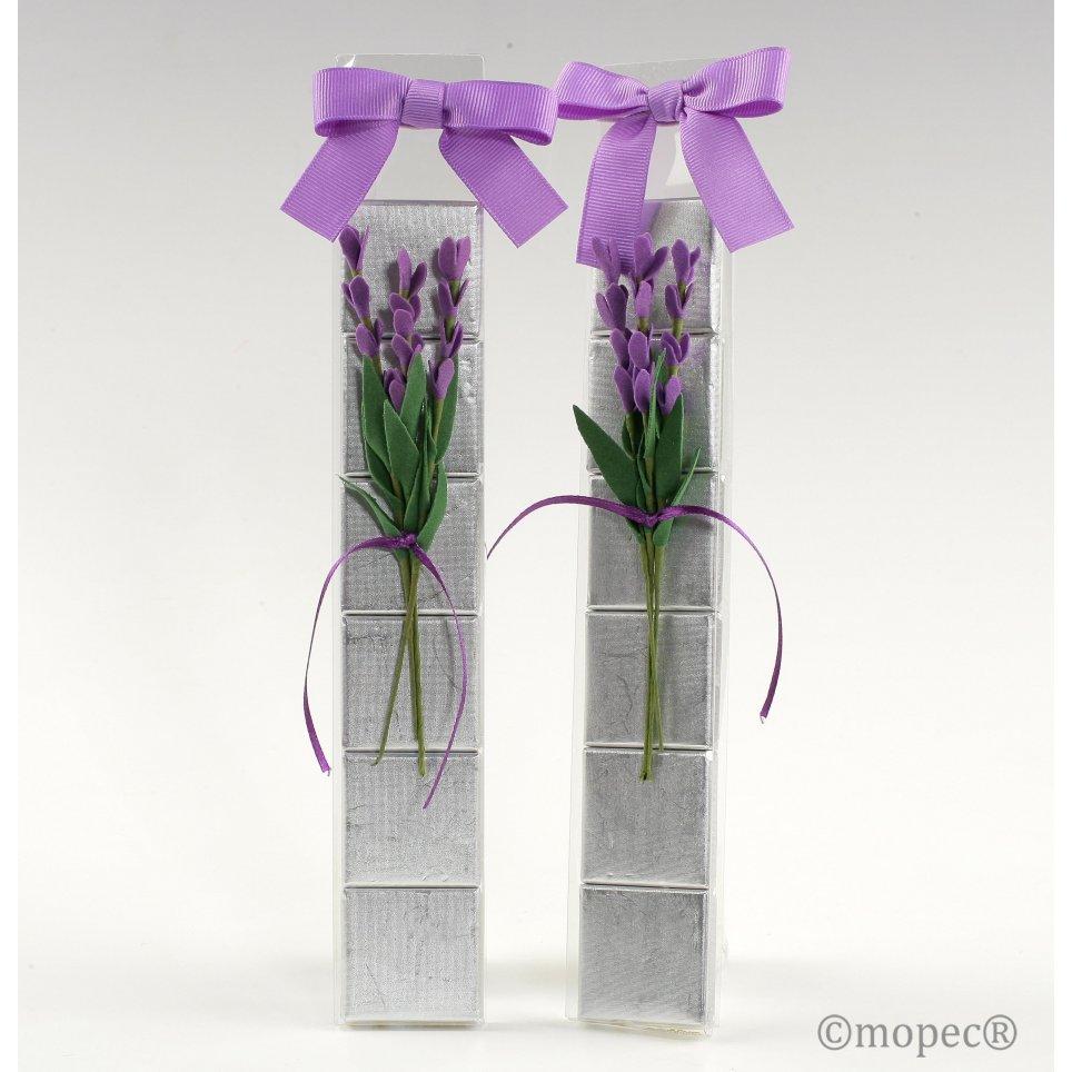 Estuche 6 napolitanas flor lavanda*