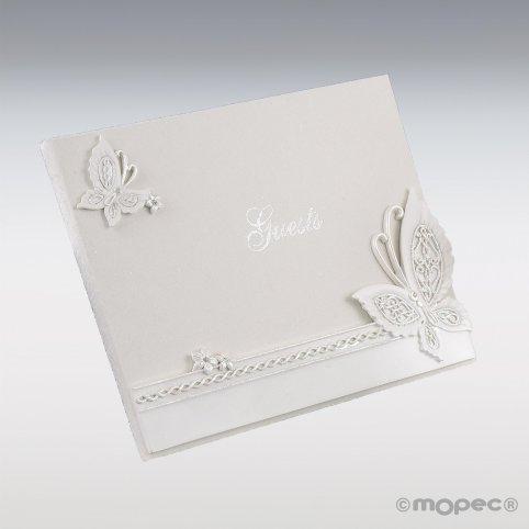 Libro de firmas mariposa 23x19cm