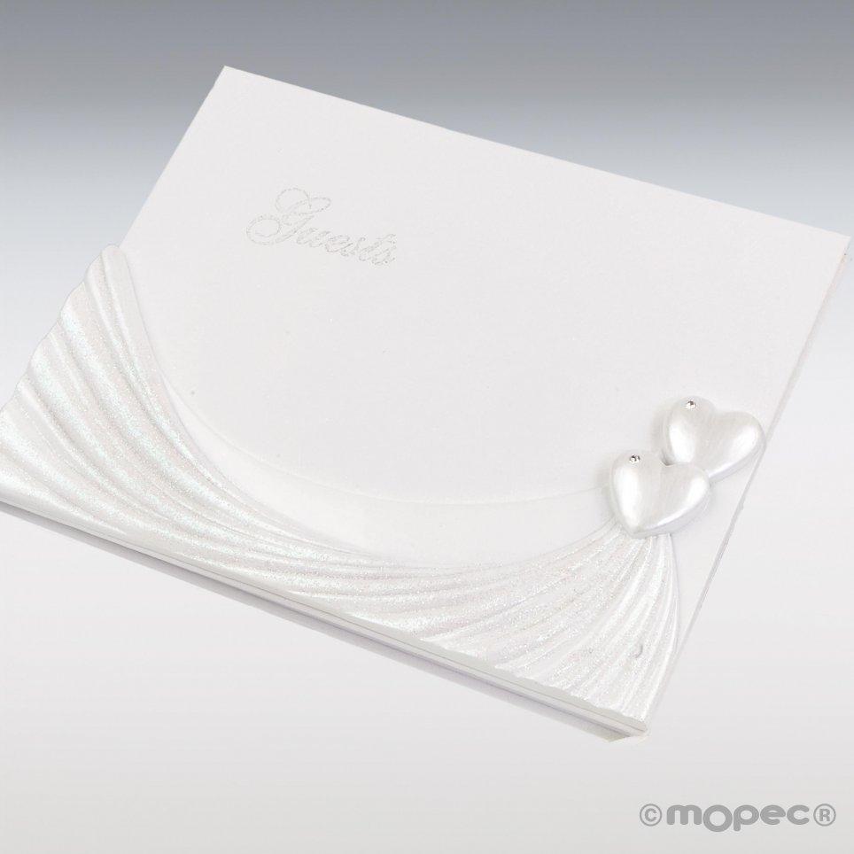 Libro de firmas corazones 23x19cm