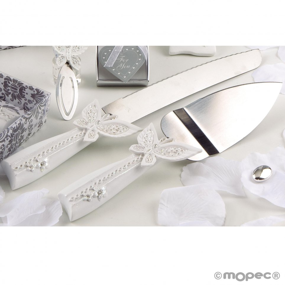 Set di coltelli per torta a farfalla