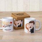 Keramikbecher Freunde Pop & Fun Liebkosung mit Geschenkbox