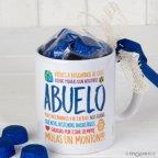 Taza cerámica Abuelo en caja regalo 6 bombones