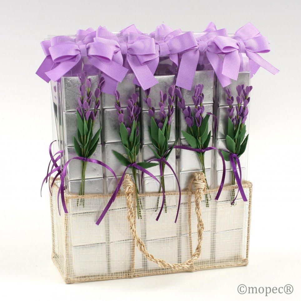 Expositor 30 estuches 6 napolitanas flor lavanda*