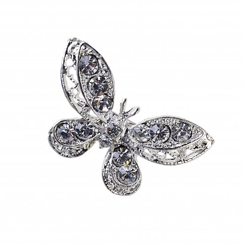Butterfly brooch strass min.12