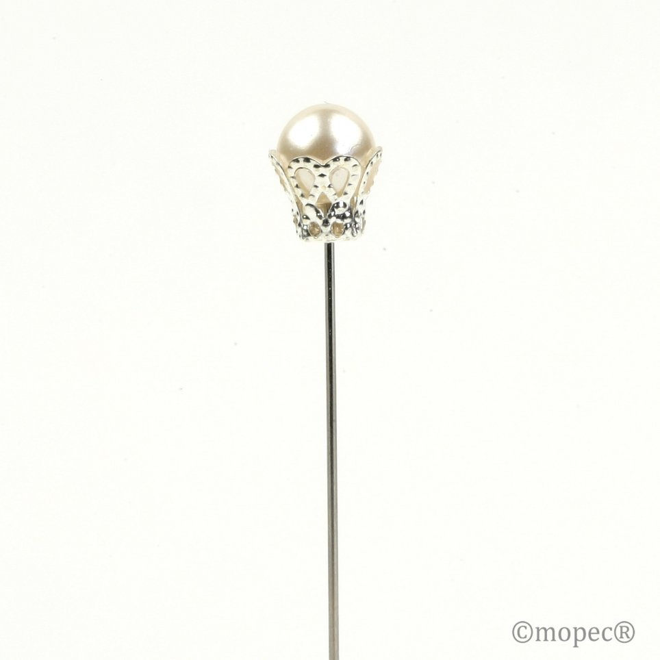 Ivory pearl needle with crown price x box 48un.