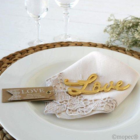 Apribottiglie dorato Love