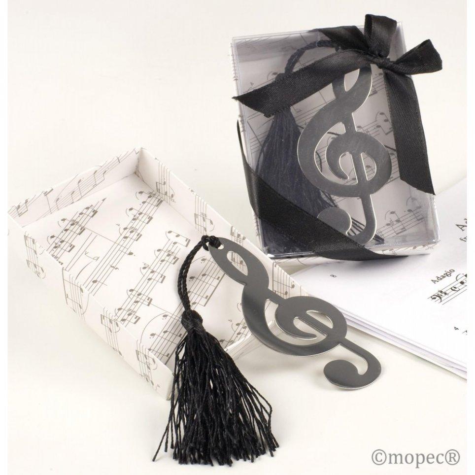 Punta a libro per chiave di violino in confezione regalo + fiocco 8