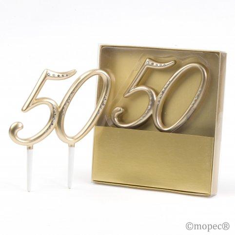 Decoración pastel 50º Aniversario 11x15cm.