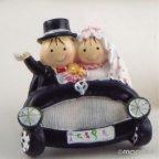 Pit & Pita sposa e sposo in auto magnete + anello 5cm min. 12