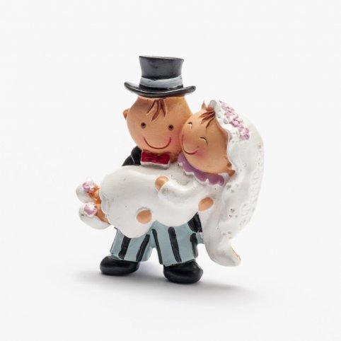 Pit&Pita novia en brazos imán+anilla 5cm.