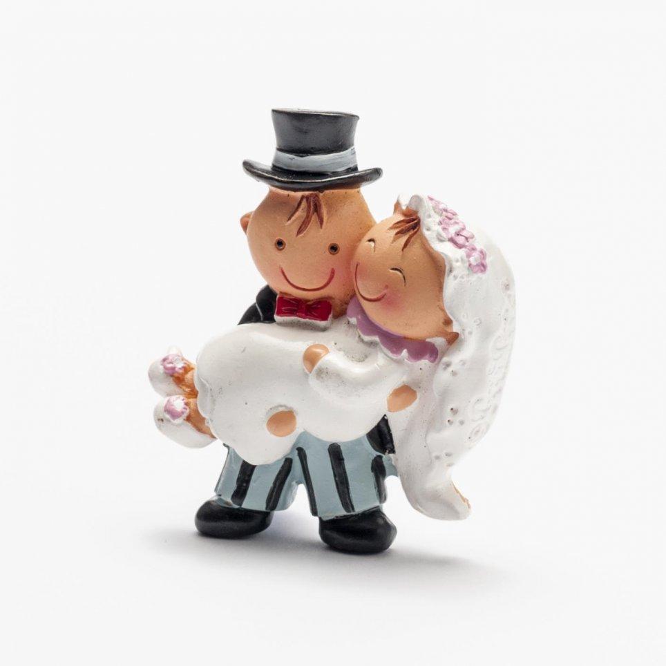 Magnete Pit & Pita sposa in armi + anello 5cm.
