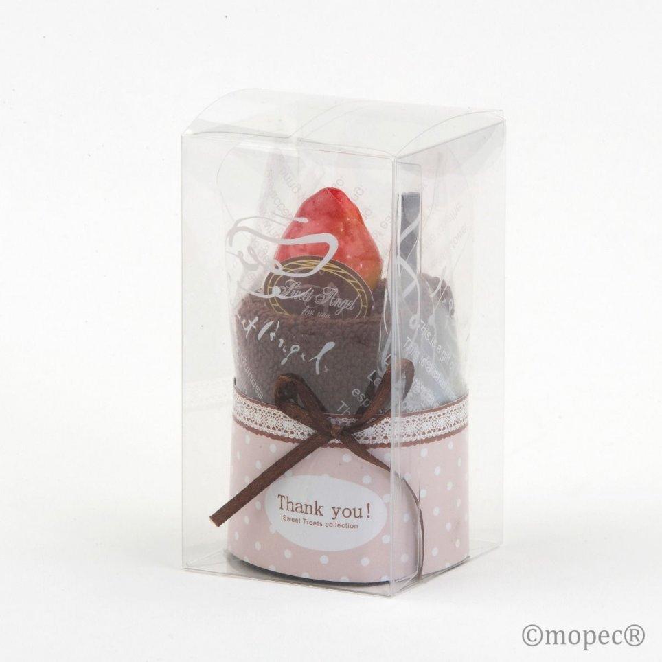Schokoladenhandtuchkuchen beige Tupfen min. 4 P.GOLOSO