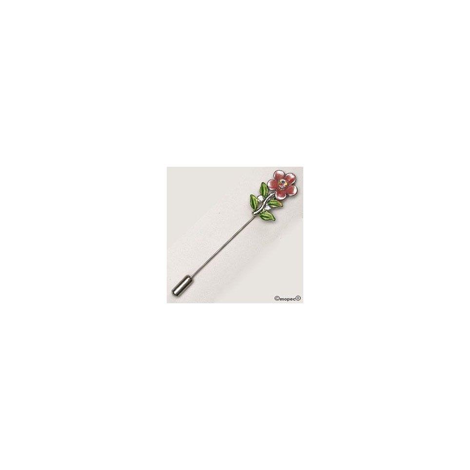 Metallische Blumennadel mit Diamant