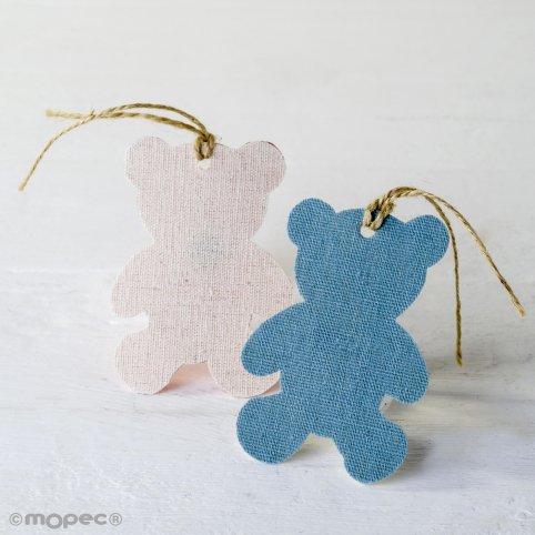 Dekorativer Textilanhänger blauer Bär