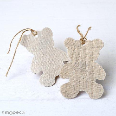 Ciondolo decorativo in tessuto beige orso