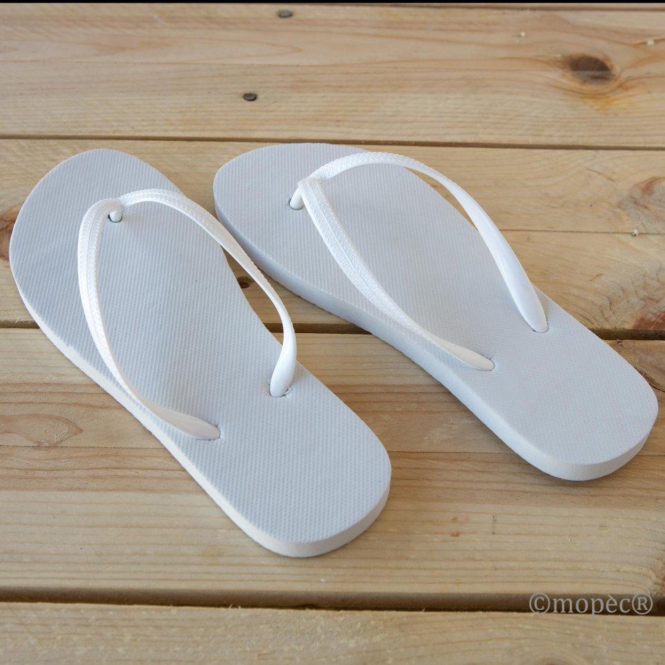 Chancleta flip flop blanca