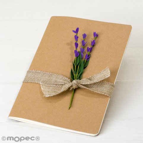 Kraftheft mit Lavendel verziert 14