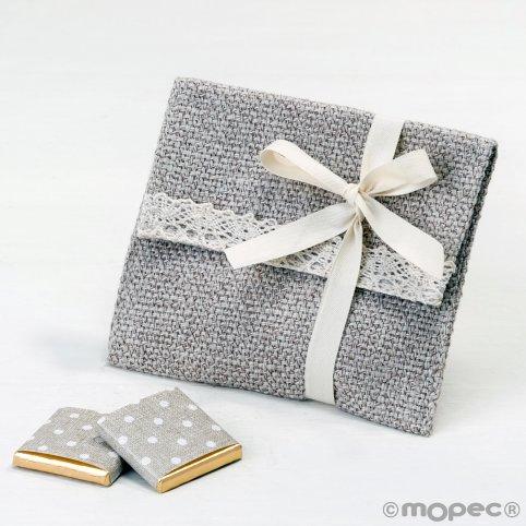 Verzierte Baumwollspitze und Klettverschluss-Tasche