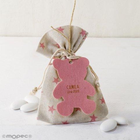 Star bag 5peladillas choco.pink bear pendant*