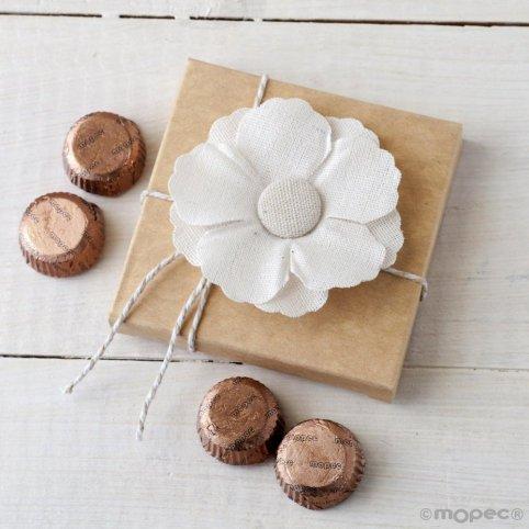 Fiore di lino adesivo in astuccio 4 torino *