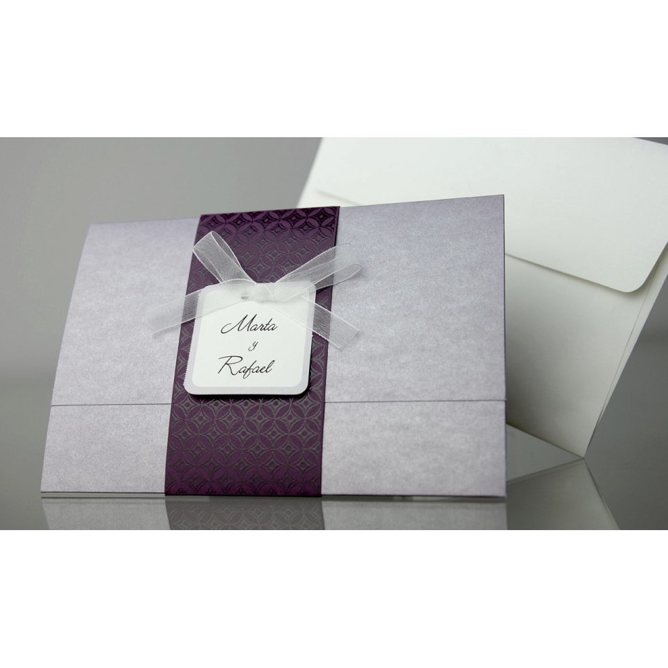 Violet Wedding Invitation