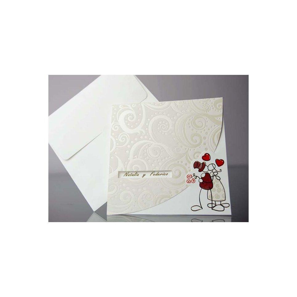 Invitación de boda figuras