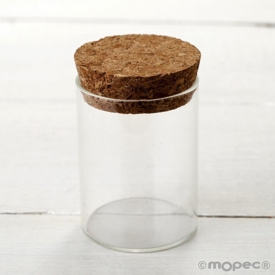 Glass jar with cork stopper 4