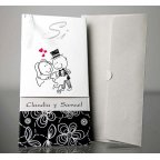 Wedding invitation yes with envelope