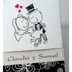 Hochzeitseinladung ja Braut und Bräutigam