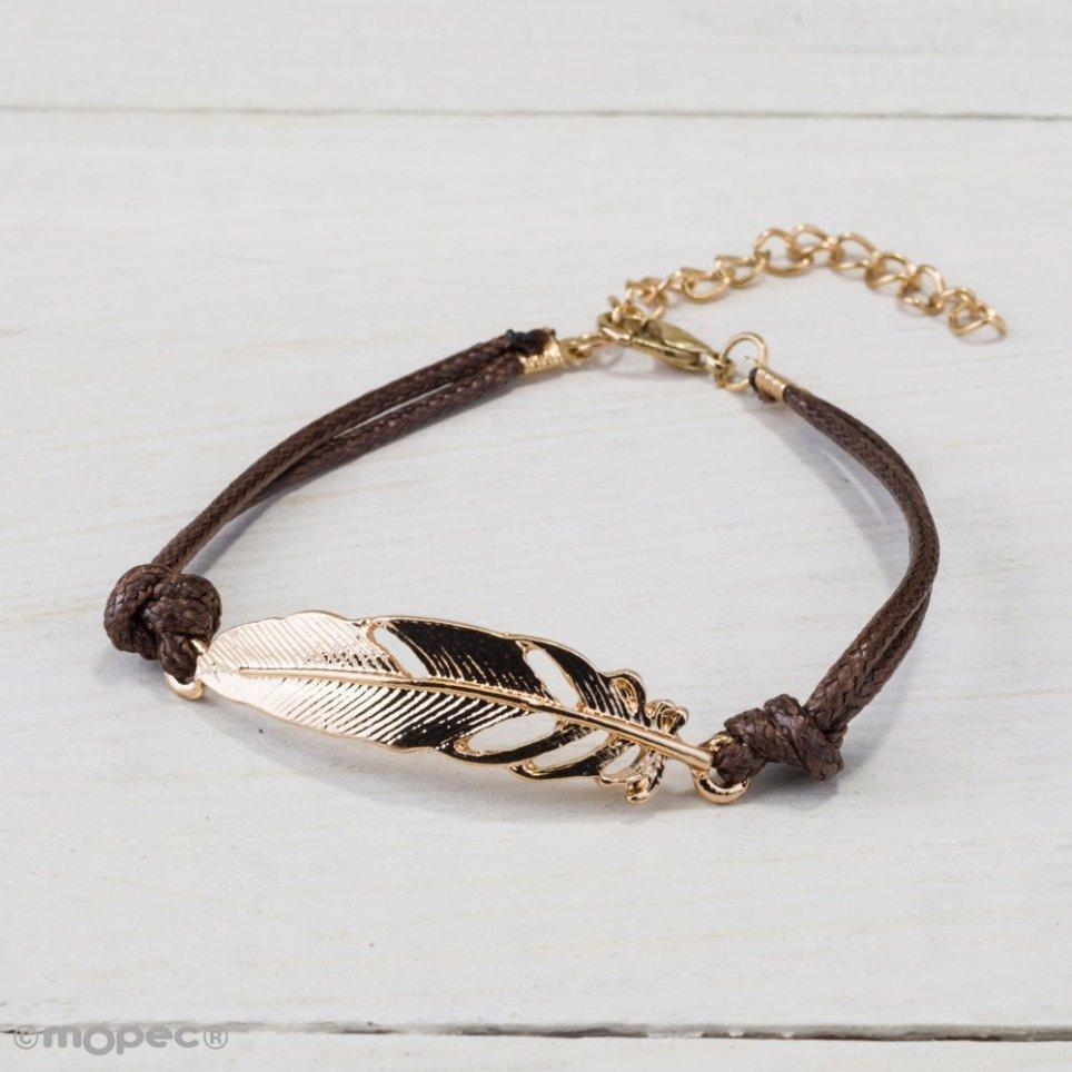 Gold Metal Feather Bracelet min.4
