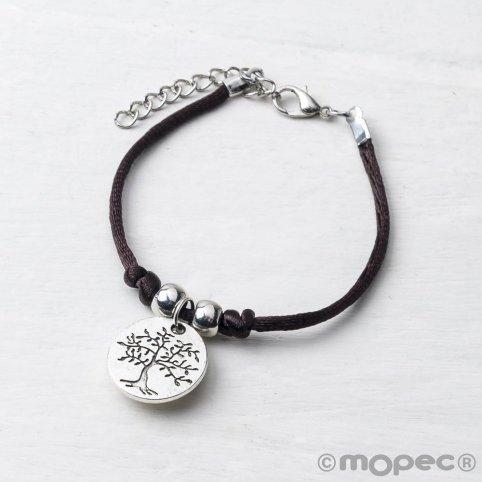 Baummedaille Armband / Leben ist ein Geschenk