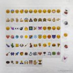 85u Emoji eingestellt. für Leuchtkasten