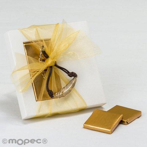 Cassa con bracciale in metallo piuma e 2 napoletane