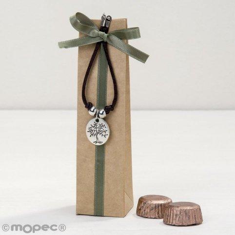 Baum / Leben ist ein Geschenkmedaillenarmband mit 2 Torinos