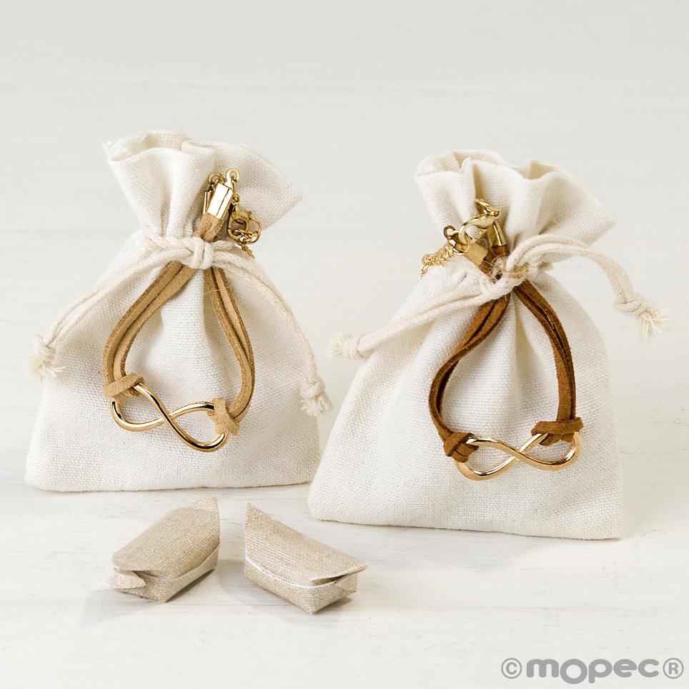 Braccialetto infinito decorato in borsa stdo. 2 caramelle