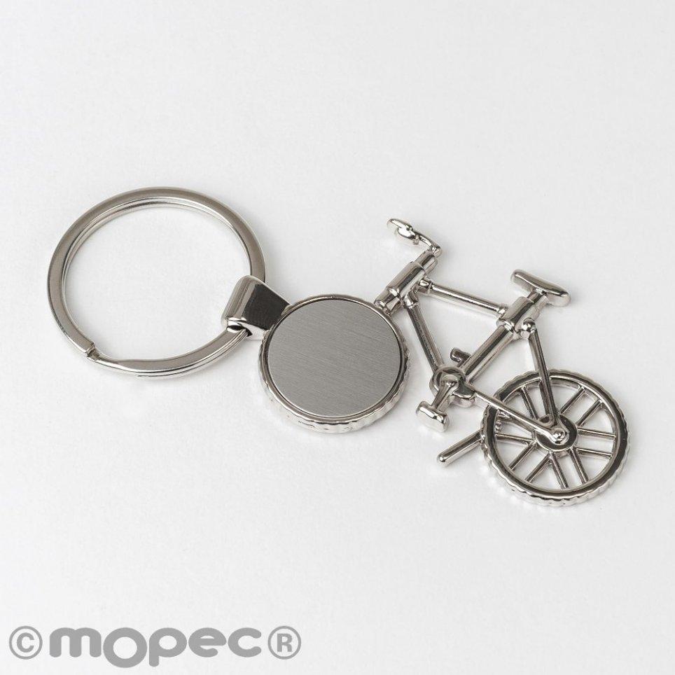 Portachiavi bicicletta in metallo 10x4